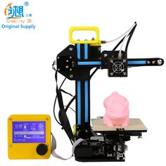 CREALITY 3D Mini Cheap 3d Color Printers CR-7 Semi-finished Full Metal Kit Upgraded Mainboard Filaments Safe Gift For Kids -- AliExpress Affiliate's buyable pin. View the item in details on www.aliexpress.com by clicking the VISIT button #3DPrinters