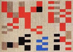 SOPHIE TAEUBER-ARP, untitled weaving, early 20th century