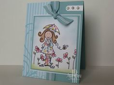 Umbrella paper pieced Elzy, ebdt, AR by Angela R. - Cards and Paper Crafts at Splitcoaststampers