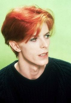 David Bowie in The Man Who Fell to Earth, 1976 Young Bowie with red hair *swoons