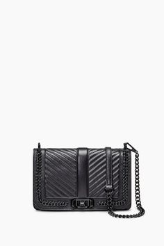 REBECCA MINKOFF Love Crossbody with Chain. #rebeccaminkoff #bags #shoulder bags #crossbody #
