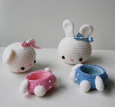 Amigurumi Bear and Bunny Box by Pepika,