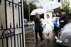 Rain shouldn't stop play on your wedding day. Here's Emily powering her way to her ceremony! On Your Wedding Day, Rain, In This Moment, Play, Natural, Rain Photography, Au Natural