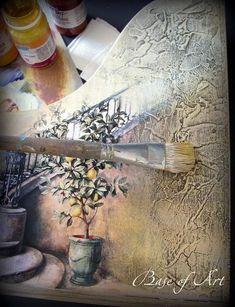 """Накопитель для бумаг """"Итальянская фреска"""". Мастер-класс от """"Base of Art"""". - Ярмарка Мастеров - ручная работа, handmade"""