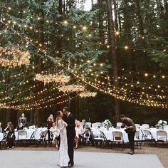 String lights-- the perfect addition to any wedding