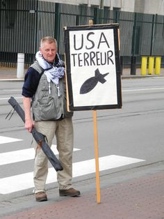 Protest against the USA, the Hague, Netherlands.