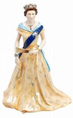We love this Diamond Jubilee Queen Figurine by Royal Worcester. It's bone china, hand painted and comes in a limited edition of 2500