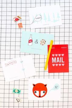 Free Printable: postcard Valentines