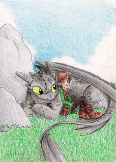 HTTYD - A Boy and His Dragon by Yahiko-chan.deviantart.com on @deviantART