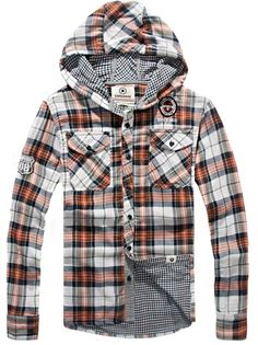 Simple & Casual Plaid With Hood