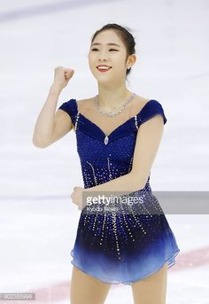 Choi Da Bin pumps her fist after her free program at the national figure skating championships in Seoul on Jan. 7, 2018. Choi finished second and was named to South Korea's Pyeongchang Olympic team....