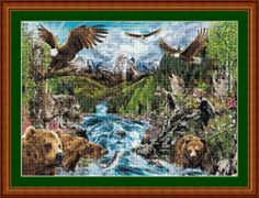 RIVER OF LIFE -  CROSS STITCH CHART (DMC THREADS )
