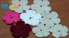 Crochet Simple Five-Petal Flat Flower Tutorial 28 Part 1 of 2 (+playlist)