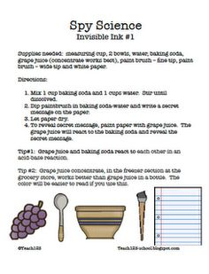 FREE invisible ink lesson