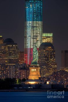 ...The beautiful new 1 World Trade all dressed in red, white, and blue~