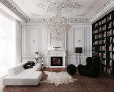 Boiserie bianca in legno (Foto) | Designmag