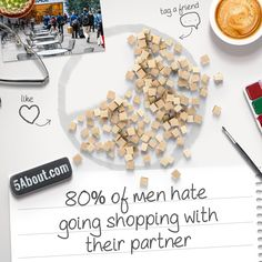 #5About Shopping | 80% of men hate going shopping with their partner. How About You?