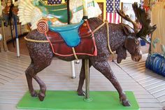 Empire State Carousel  Moose Stander -- [REPINNED by All Creatures Gift Shop]