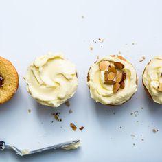 Jam-Filled Almond Cupcakes Recipe