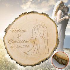 Baumscheibe zur Hochzeit Silhouette - ein ausgefallenes und persönliches Hochzeitsgeschenk #Hochzeit #Geschenk #Hochzeitsgeschenk