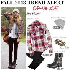 """Fall 2013 Trend Alert: Grunge"" by trinavokes on Polyvore- this is what I wear almost everyday during the fall anyways"