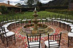 Hacienda Santa Catalina - Arte & Gourmet Eventos Fountain, Surf, Santa, Patio, Outdoor Decor, Home Decor, Gourmet, Haciendas, Waterfalls