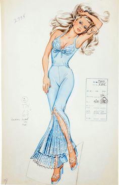 Frederick's of Hollywood Vintage Catalog Ads . #Illustration