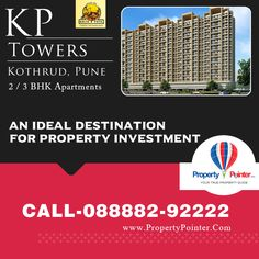 KP Towers by Kolte Patil old and famous builder in pune. it has been launch 3BHK flats at kothrud area.KP Towers is one the best amongst all the project. visit: http://www.propertypointer.com/kp-towers/kothrud/pune