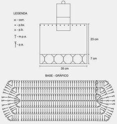 Base rectangular para bolso