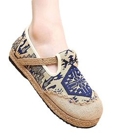 WML Women's Exotic Flat Linen Espadrilles Embroidery Slip-On Loafer - http://bigboutique.tk/product/wml-womens-exotic-flat-linen-espadrilles-embroidery-slip-on-loafer/
