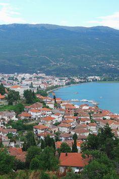 Vue sur Ohrid, depuis la forteresse, Macédoine. #Macedonia #travel #roadtrip