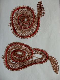 Jablko a hruška Lace Heart, Lace Jewelry, Lace Making, Bobbin Lace, Lace Flowers, Lace Detail, Crochet Earrings, Crafting, Butterfly