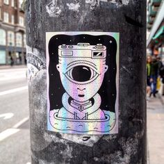 I have no idea what I am looking at! ;) [Needs ID] #stickers #streetart #copenhagenstreetart