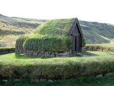 Casa tradicional viking, Islândia