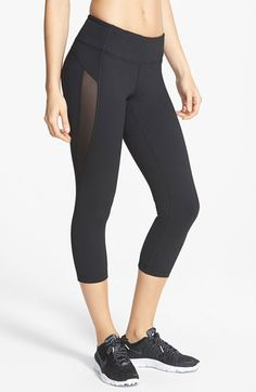 Free shipping and returns on Zella 'Live In - Hot' Mesh Detail Capris at Nordstrom.com. Panes of sheer mesh wind down sleek performance capris, cooling you as your run heats up. Curved rear seaming ensures a flattering fit as you fly by the competition.