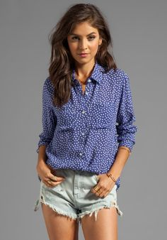 RAILS Kate Button Down in Poka Dot at Revolve Clothing