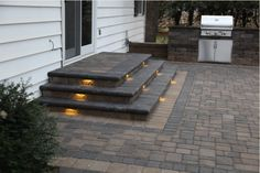 Concrete Patio Steps Porch For Sale Ste Patio Steps, Front Porch Steps, Brick Steps, Outdoor Steps, Concrete Steps, Back Patio, Backyard Patio, Stamped Concrete, Concrete Patio Designs