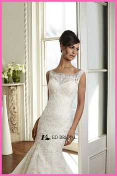 Sexy Boat Neckline Lace Patterns Beads Open Back Court Train Organza Mermaid Wedding Dresses