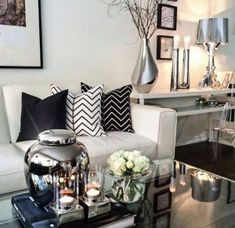 black white living room decor (28)