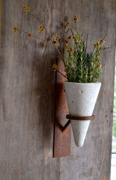 Concrete/Steel wall Sconce planter wall sconce candle holder