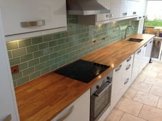 Splashback with similar kitchen to ours (plus steel sockets) My Kitchen Rules, Kitchen Stuff, Kitchen Backsplash, Kitchen Cabinets, Splashback Tiles, Kitchen Utilities, Stylish Kitchen, Home Kitchens, Kitchen Dining
