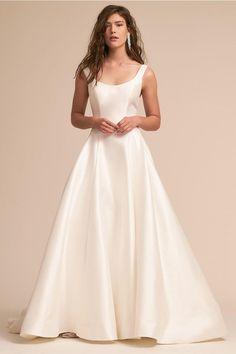 Bishop Gown, $1,450, [Eddy K](https://www.bhldn.com/shop-the-bride-wedding-dresses/bishop-gown/productoptionids/fbcaeb8b-b90b-4e9a-9313-32da085940dd) available at BHLDN