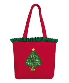 Take Christmas cheer on the go with this jolly tote. Made from durable cotton in cheerful colors, this tote is ready for years of Yuletide traveling. Christmas Bags, Christmas Things, The Birth Of Christ, Red Belt, Straw Bag, Santa, Take That, Reusable Tote Bags, Color
