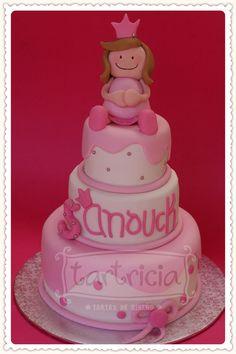 Pastel rosa con una princesa simple y que luce muchisimo!!!!
