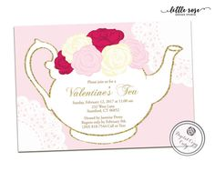 Mother's Day Invitation // Mother's Day Tea Party Invitation ...