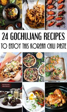 24 ridiculously addictive Gochujang recipes to enjoy this sweet and spicy Korean chili paste! #Korean #Asian #spicy