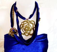 jewelryvelvet jewelryfabric jewelryfreeform by JustBracelet