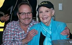 Timmy grown up with June Lockhart who played his mom.....from Lassie