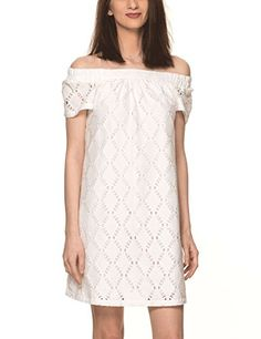 Soft Rebels Womens Womens White Lace Off The Shoulder Dress in Size XS White *** More info could be found at the image url-affiliate link.