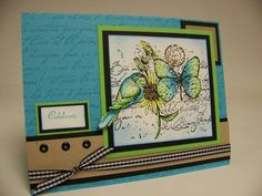 Celebrate Your Birthday using Stampin Up Garden Collage